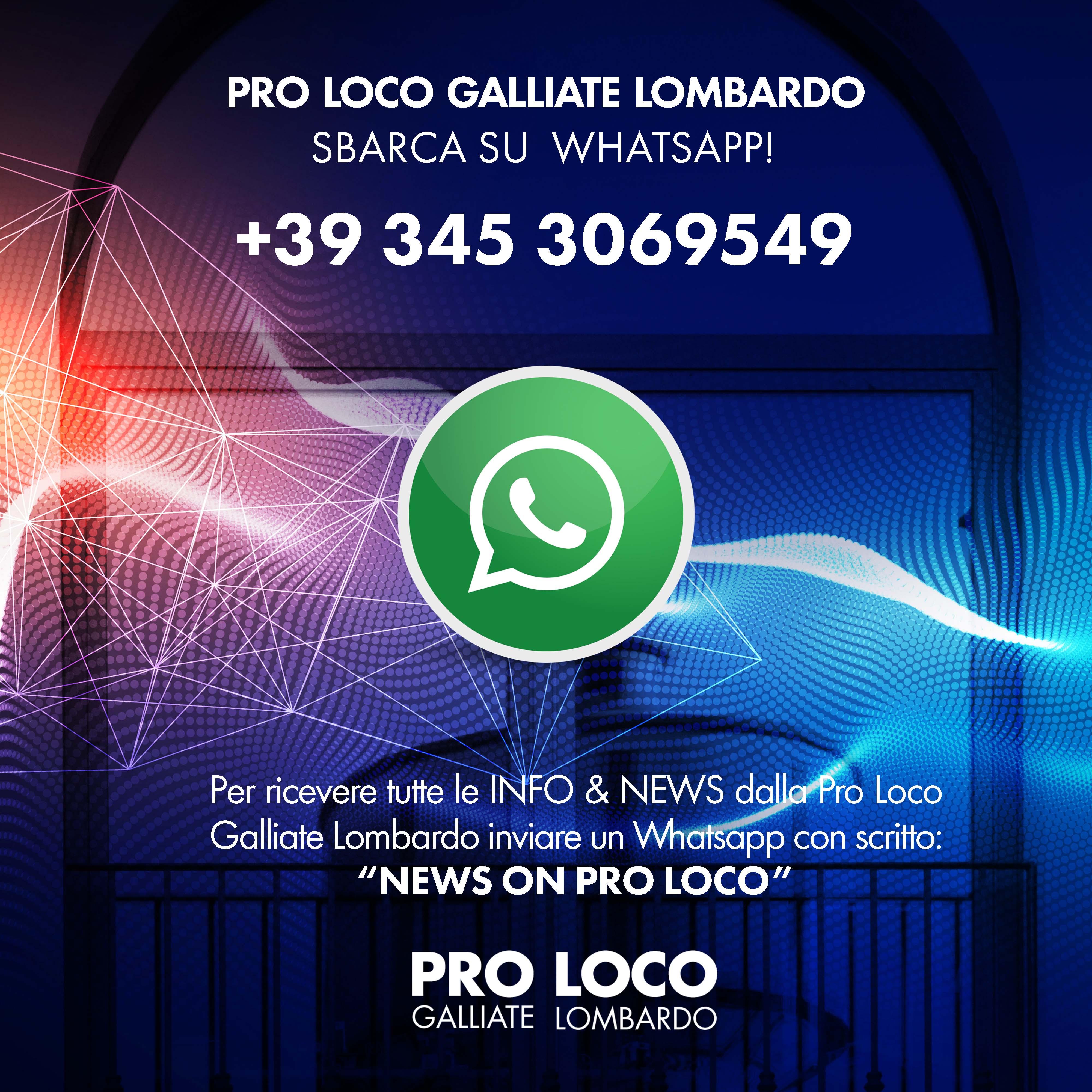 Calendario Condiviso Su Whatsapp.Servizio Whatsapp Proloco Galliate Lombardo